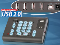 "ConnecTec VoIP USB-Telefon ""Power-Dial-Pad"" mit USB 2.0 Hub"