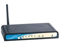 ConnecTec 4in1 Multi-WLAN-Router File-,Print-&IP-Server 54Mb